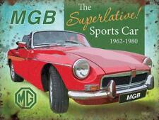 MGB Superlative Sports Car MG Classic Road Car MG Medium Metal Steel Wall Sign
