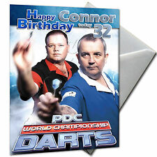 DARTS - PERSONALISED  Birthday Card Large A5
