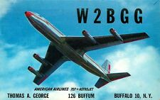 AMERICAN AIRLINES 707 ASTROJET 1962 QSL CARD