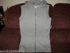 Aeropostale Light Gray Tunic Sleeveless Hoodie W/Drawstring Size L Women's NEW