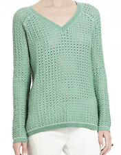 "$178 BCBG DUSTY JADE ""KENT"" V-NECK SWEATER TOP NWT XS"