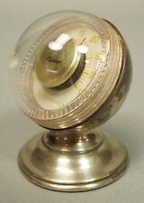 Vintage Cartier Sterling Silver Sphere Pedestal Base Room Thermometer