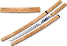 """RYUJIN 41"""" 1045 Shira Saya Handmade Japanese Sword w/ Dragon Scabbard NINJA"""