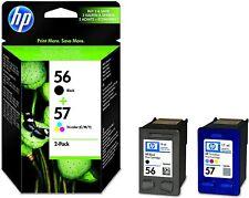 HP 56/57 Multipack & einzeln schwarz Farbe Original Tintenpatronen Tinte SA342AE
