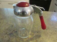 Vintage Red Bakelite Handled Maple Syrup Bottle Duraglas USA