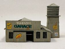 "N scale Halloran scratch built ""Wabash Garage"""