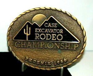 Case Construction Excavator Rodeo Championship Belt Buckle Phoenix 1986 Ltd Ed