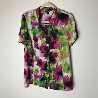 East 5th Women's Top Size XL Blouse Size Short Sleeves Floral Casual Work Career