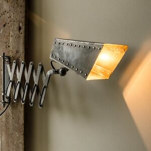 Scissor Lamp Industrial Wall Lighting Accordion Lamp Plug in Steampunk Lighting