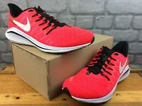 NIKE MENS UK 8 EU 42.5 ZOOM VOMERO 14 NEON CRIMSON WHITE BLACK TRAINERS M