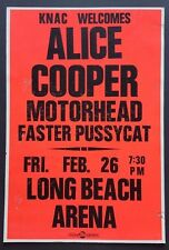 ALICE COOPER / MOTORHEAD /FASTER PUSSYCAT Original Promo Poster 1988 Mötley Crüe