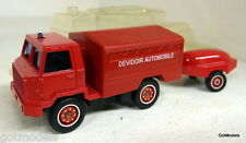 Solido SCALA 35 BERLIET CAMIVA 4x4 FF + rimorchio FIRE DEPARTMENT pressofusione modello