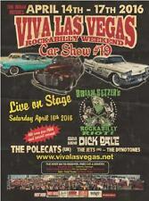 Brian Setzer Poster Viva Las Vegas Car Show #19 Dick Dale Polecats Lithograph