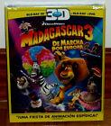 Madagaskar 3 Aus Flucht durch Europa Combo Blu-Ray 3D+Blu-Ray+DVD Versiegelt R2