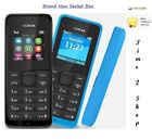Nokia Double Sim 105-NOIR (débloqué) 2 SIM Poussière Gratuit TéléPhone Portable