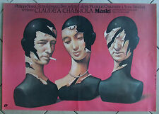 Masks / Masques -  Claude Chabrol  - Walkuski - Polish Poster