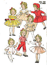 Vintage Doll Clothes Pattern 9603 for 12 inch Shirley Temple Judy Garland Ideal