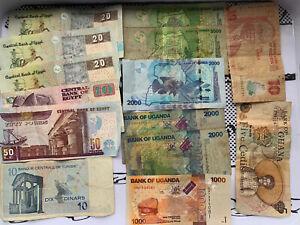 Various Bulk Banknotes Currency Job lots (African)