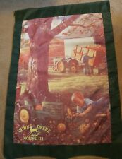 John Deere Large Signed Collector's Yard Flag. Height 48 in Width 28 in.