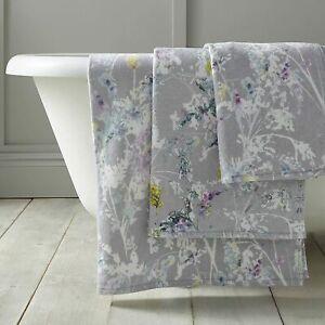 Voyage Maison Fenadina Grey Floral 100% Cotton Designer Towel Collection