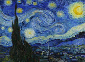 "VINCENT VAN GOGH ~ Starry Night ~ CANVAS PRINT POSTER ~ 24x36"""