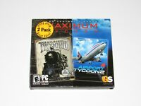 Maximum Tycoon PC Game New Sealed Railroad Tycoon II Platinum Airport 2