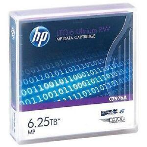 HP C7976A LTO6 ULTRIUM 2.5TB 6.25TB TAPES LTO-6 HPC7976A  5 PACK NEW