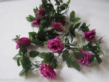 Flores secas y artificiales decorativas de color principal rojo de seda artificial para el hogar