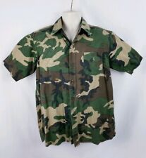 Vtg Red Head Men's Button Front Shooting Shirt Short Sleeve Camouflage Large