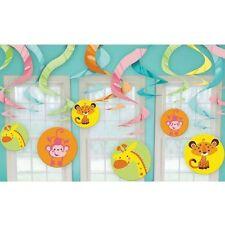 Animals of the Rainforest Baby Shower Swirl Decoration Girl or Boy Jungle Safari