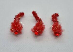 """Blood red"" glistening caterpillar mceggit eggstacy worms set of 3"