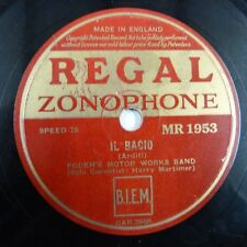 78rpm FODEN's MOTOR WORKS BAND - HARRY MORTIMER il bacio / the mill in the dale