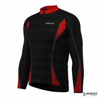 Mens Cycling Jersey  Long Sleeve Thermal Cold Wear Roubaix Bicycle Top Jacket