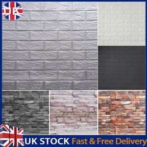 20PCS Large 3D Soft Tile Brick Wall Sticker Self-adhesive Waterproof Foam Panel*