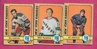 1972-73 OPC NY RANGERS  CARD LOT  (INV# J0468)