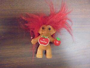 """RUSS """"A+ Teacher """" Red Hair Troll Doll 3"""""""