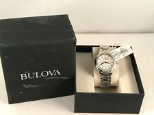 Bulova Womens  Rosedale 96R174Stainless Steel Diamond Round  34mm Watch  c102