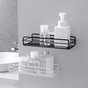 Shower Caddy Shelf Basket Self Adhesive Storage Rack Bathroom Kitchen Organizer