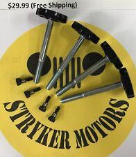 97-06 JEEP WRANGLER TJ SOFT TOP DOOR SURROUND KNOB Set 4 Knobs & Bracket Bolts