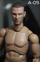 "Custom 1//6 David Beckham Headsculpt Fit 12/"" corpo FIGURA MASCHILE"