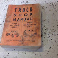 1956 1957 1958 Dodge Chrysler Fargo Truck Service Shop Repair Manual CDN OEM Wor