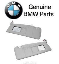 NEW BMW E46 323i Pair Set of Left & Right Gray Illuminated Sun Visor with Mirror