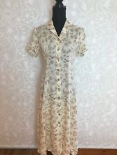 90s Retro Vintage Button Floral Day Dress, St Michael, 8-10
