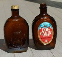 2 1996 LOG CABIN SYRUP Limited Edition Special Bicentennial Eagle Bottles, VGC