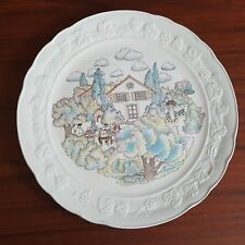 """GIEN FRANCE STYLE MARIE-PIERRE BOITARD  12-1/2"""" CAKE PLATE OR CHOP PLATTER"""