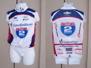 Mens NEW Bike cycling jersey wind guard vest size M red white & blue full zip