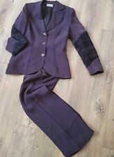 Caterina Leman Swtizerland Women's Brown Jacket & Trousers set Suit 38 EU 10 UK