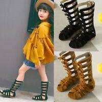 1 Pair Kids Girls Summer Boots Roman Sandals Toddler Gladiator Sandals BHQ