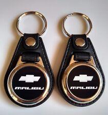 CHEVY MALIBU Keychain 2 pack black Classic car logo