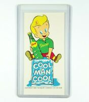 "Vintage 1959 Squirt Soda Cool Man Cool ""Little Squirt"" Decal (4.5"" x 2.25"")"